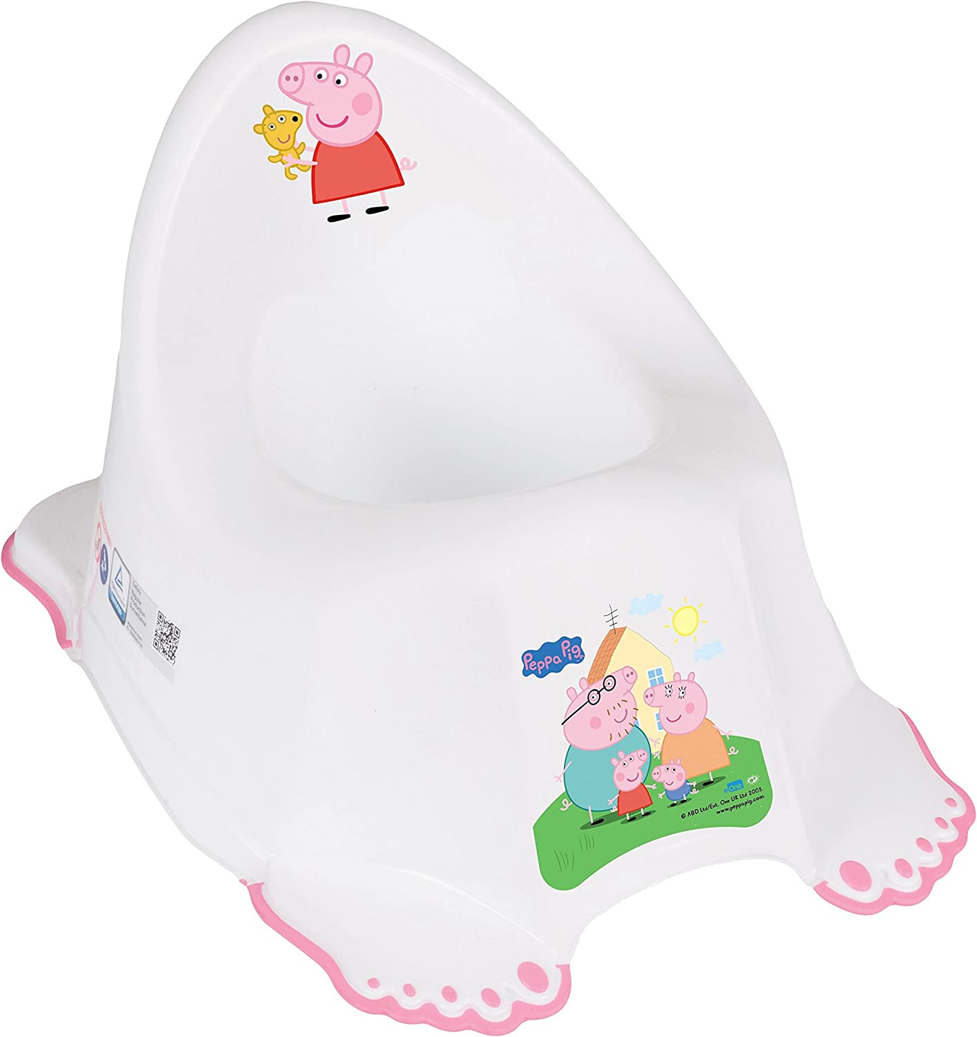 Peppa Pig Large Musical Non-Slip Potty Colourful Design Pink