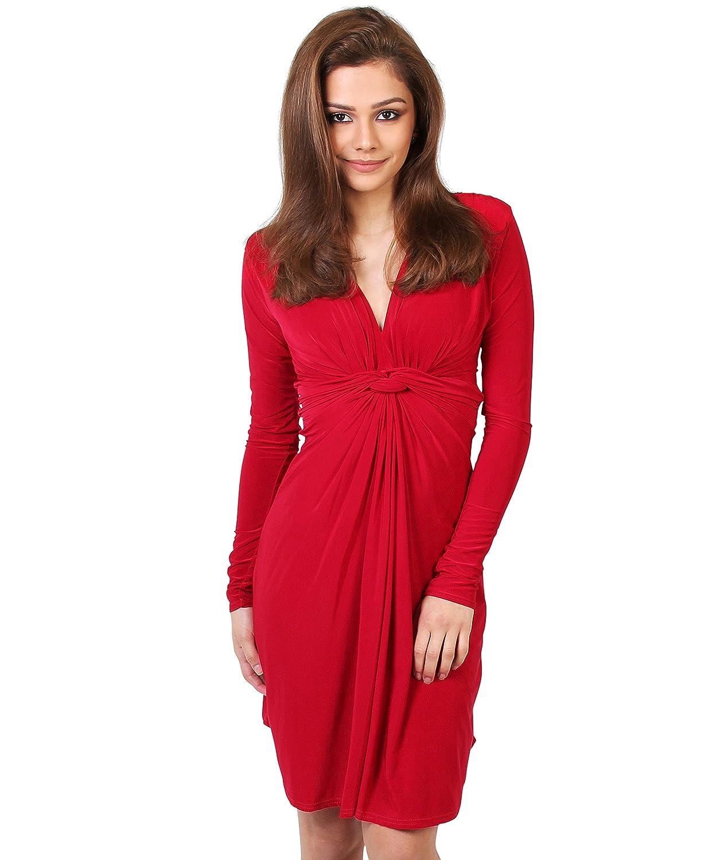 KRISP Damen Kleid Tunika Langarm Große Größen Umstandsmode