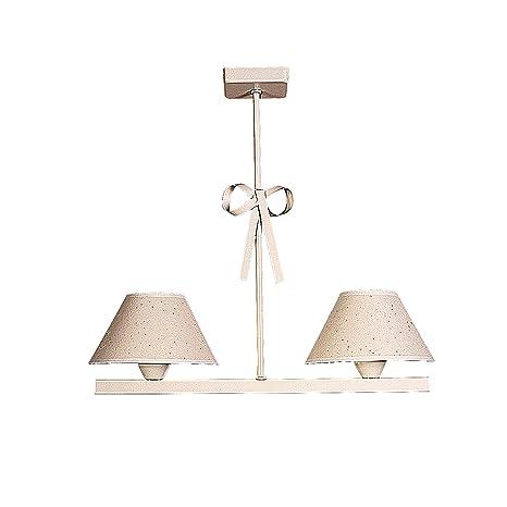 Lámpara infantil de techo de 2 luces color beige con detalle ...