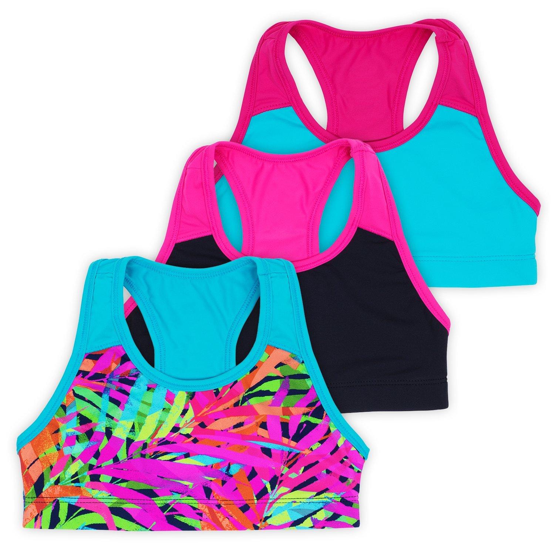 56679e48019c Galleon - Layla Racerback Crop Top, Gymnastics & Dancewear, Tagless, 3-Pack,  Green, 4/5