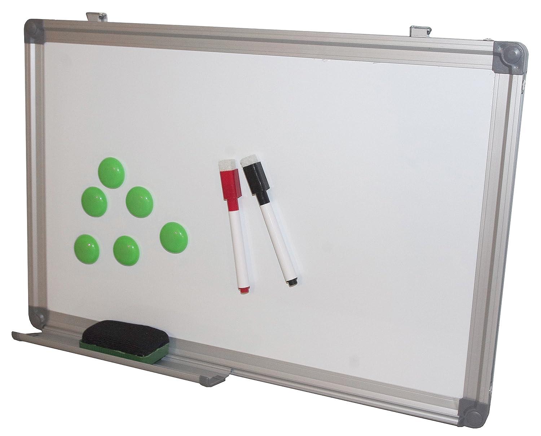 Prodotto nazionale 30 x 45 cm lavagna cancellabile a secco magnetica con vassoio penna, cornice di alluminio e di confezione Product Nation Ltd PN30ACC