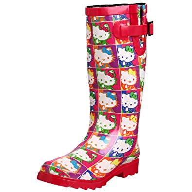 Amazon.com | Chooka Women's Hello Kitty Retrospective Rain Boot ...
