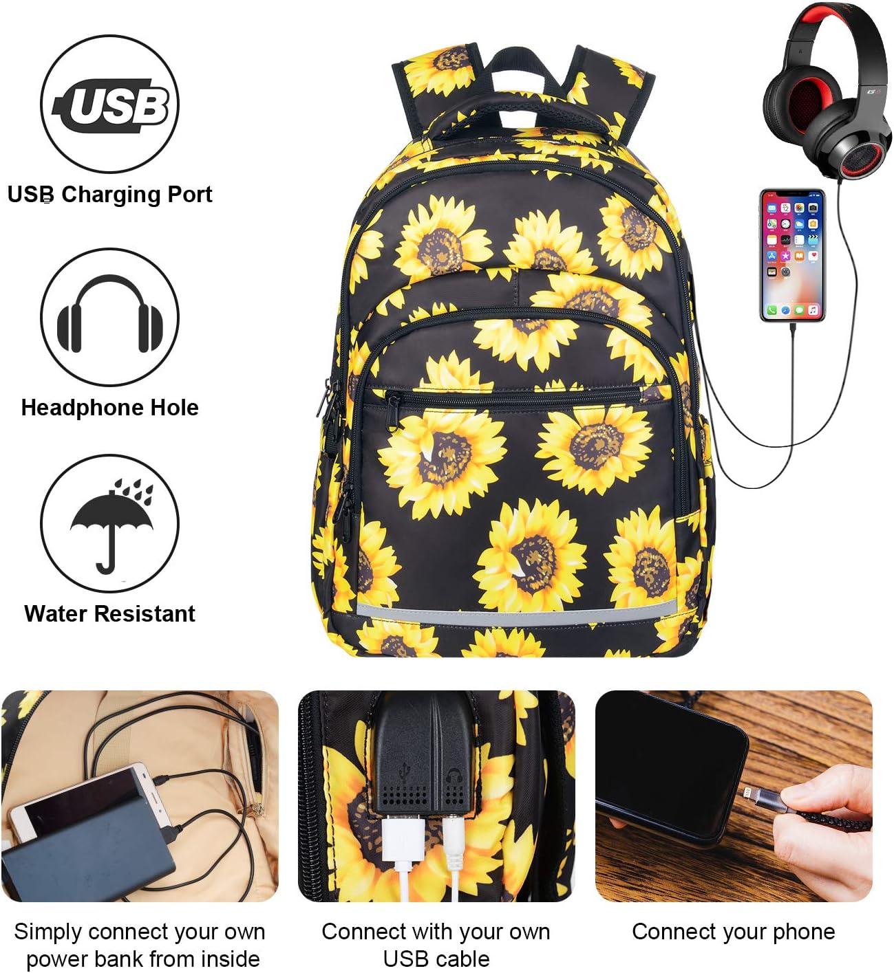 Summer Flower Flax Flowers Backpack School College Bag Laptop Travel Daypack for Women Men