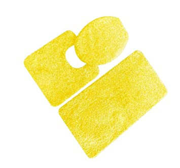 5th Avenue 3 Piece Bathroom Rug Set   Bath Mat, Contour, Cover (Yellow