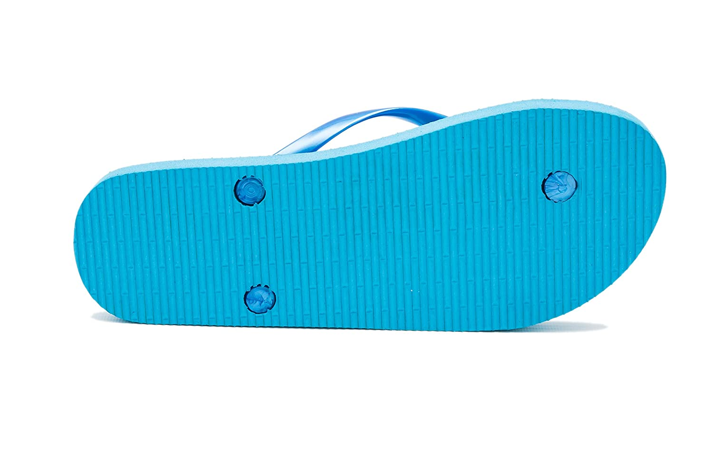 AIREE FAIREE Chanclas para Mujer para Playa y Piscina Caballo de Mar Azul EU 36-37