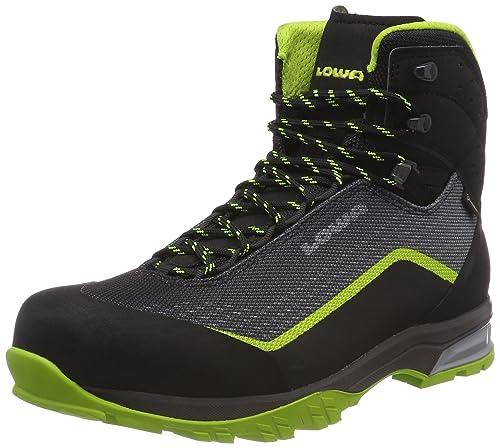 Lowa Irox GTX Mid, Stivali da Escursionismo Alti Uomo, Grigio (Olive/Schwarz 7899), 42.5 EU