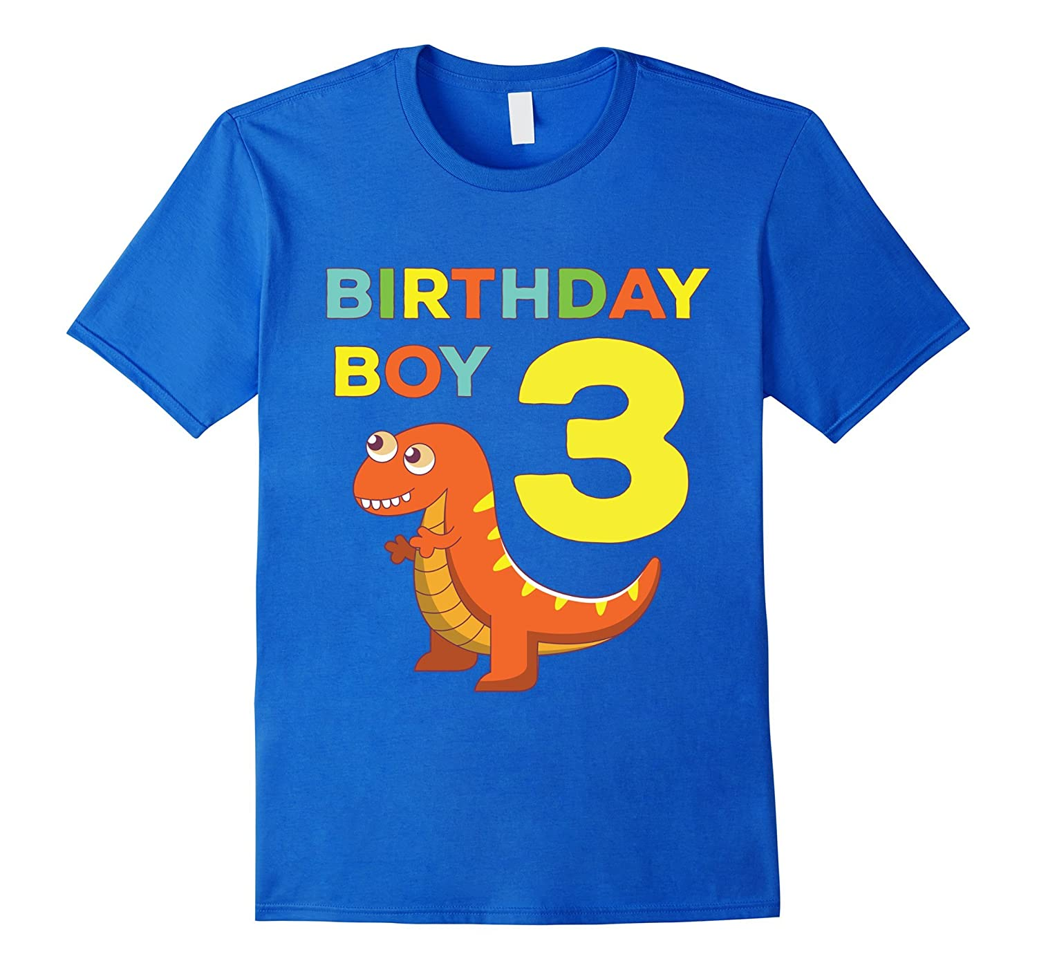 3rd Birthday Boy Dinosaur Dino Fun Bday Party Gift T Shirt TH