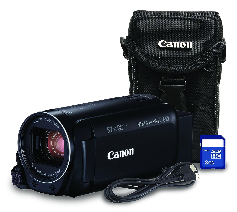 Canon HF R800 Bundle HD Recording Portable Traditional Video Camera, Black Canon Canada (Direct)