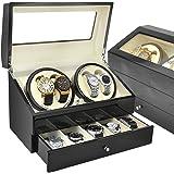 ベルソス 【4色から選べる】 ワインディングマシーン 4本巻き 静音設計 収納BOX付き VS-WW044