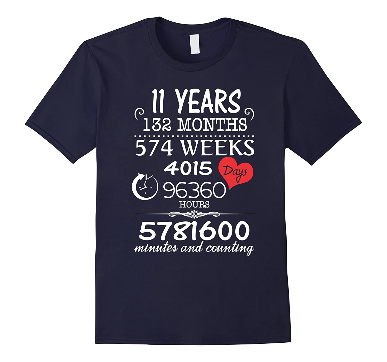 11th Wedding Anniversary T-Shirt - 11 Years Vintage Gift-PL