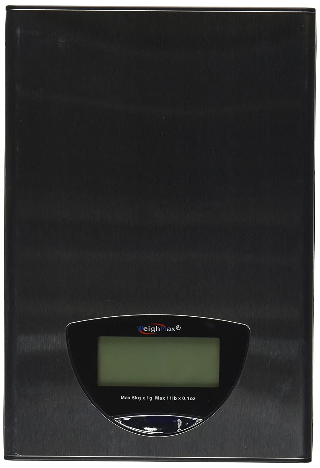 Weighmax Ultra Slim Stainless Steel Kitchen Scale 11-Pound with X-Large LCD Display, Batteries Included