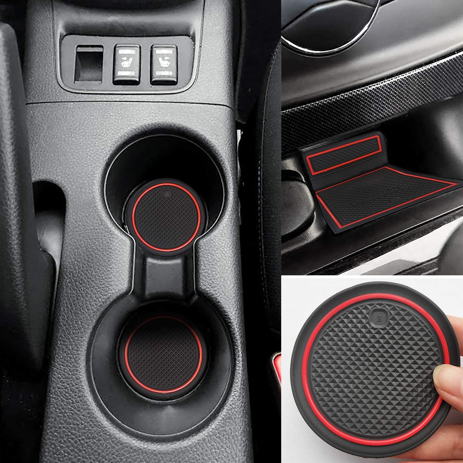 15pcs//Set blue Auovo Anti-dust Door Mats Custom Fit Cup Door Center Console Liner for Nissan Sentra 2019 2018 2017 2016 2015 2014 2013 Accessories