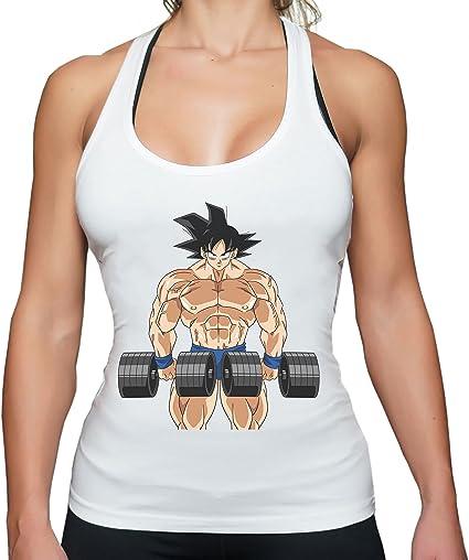 THE LION Gobody Golds Goku Gym Camiseta sin Mangas para Mujer Goku Dragon Master Son Ball Vegeta Turtle Roshi Db