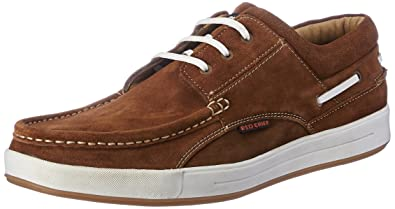 Red Chief Men's Rust Leather Boat Shoes - 6 UK/India (40 EU)