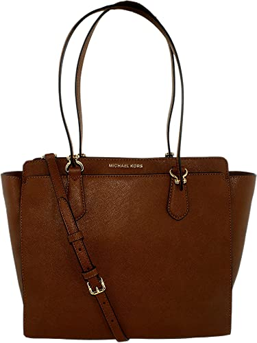 e1524114ea1775 Amazon.com: MICHAEL Michael Kors Womens Dee Dee Leather Convertible Tote  Handbag Brown Large: Michael Kors: Shoes