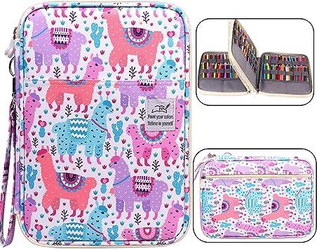 72 Slot Art Pencils Pens Crochet Hooks Cloth Carrying Case Roll Holder Colorful