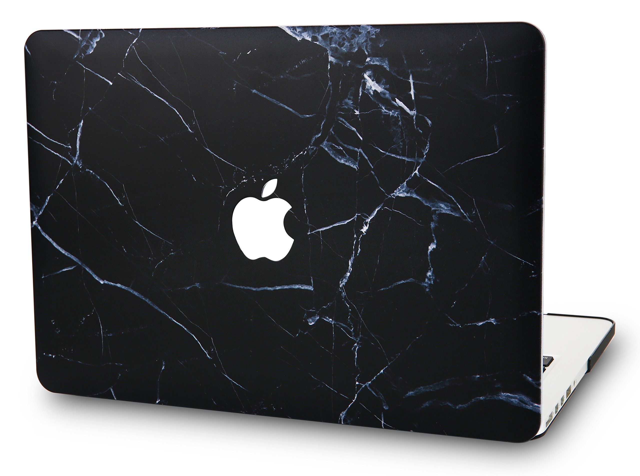KEC Laptop Case for MacBook Air 13'' Plastic Case Hard Shell Cover A1466 / A1369 (Black Marble)