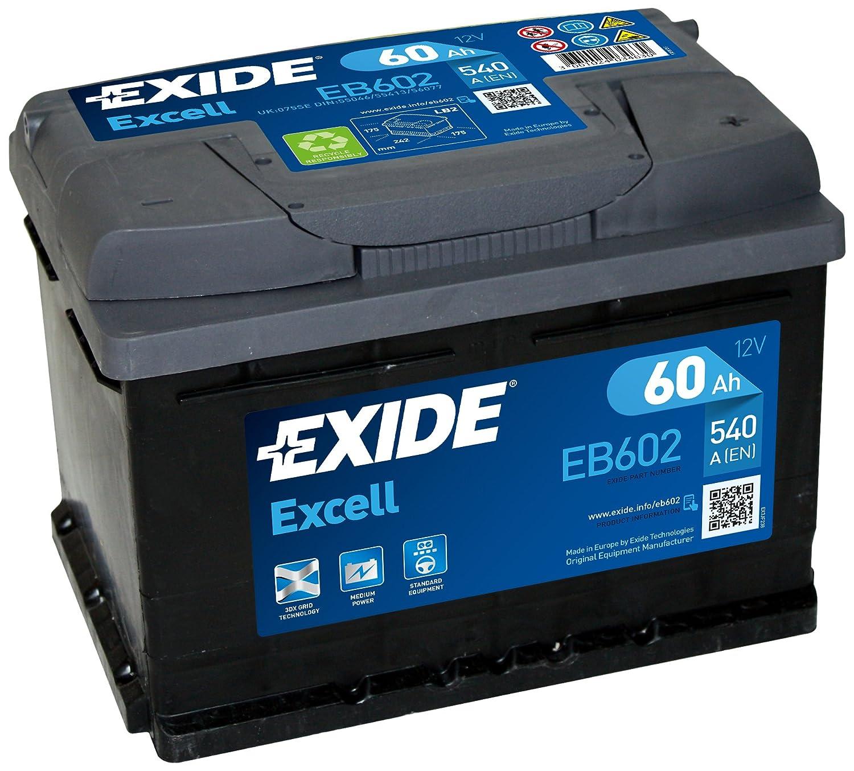 EXIDE - Batterie de voiture - Batterie Excell LB4 - 15% de puissance de dé marrage supplé mentaire - Expé rience d' Equipementier d' Origine - Garantie constructeur 2 ans EB802