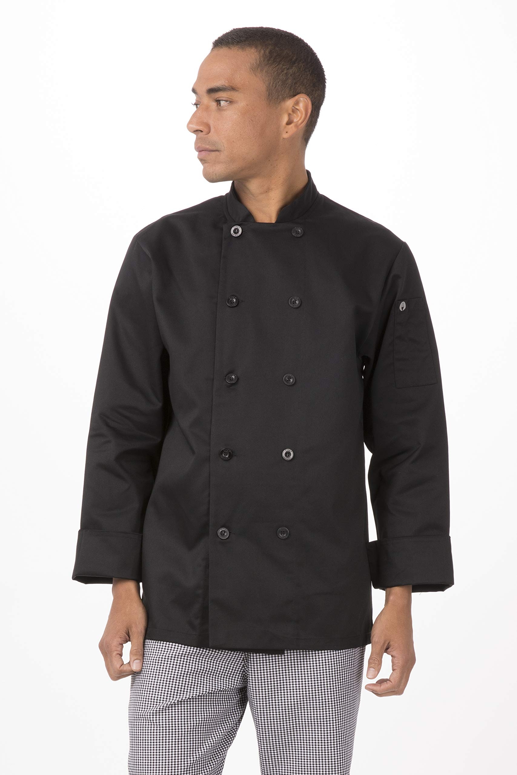 Chef Works Unisex-Adult's Bastille Chef Coat, Black, 6XL by Chef Works