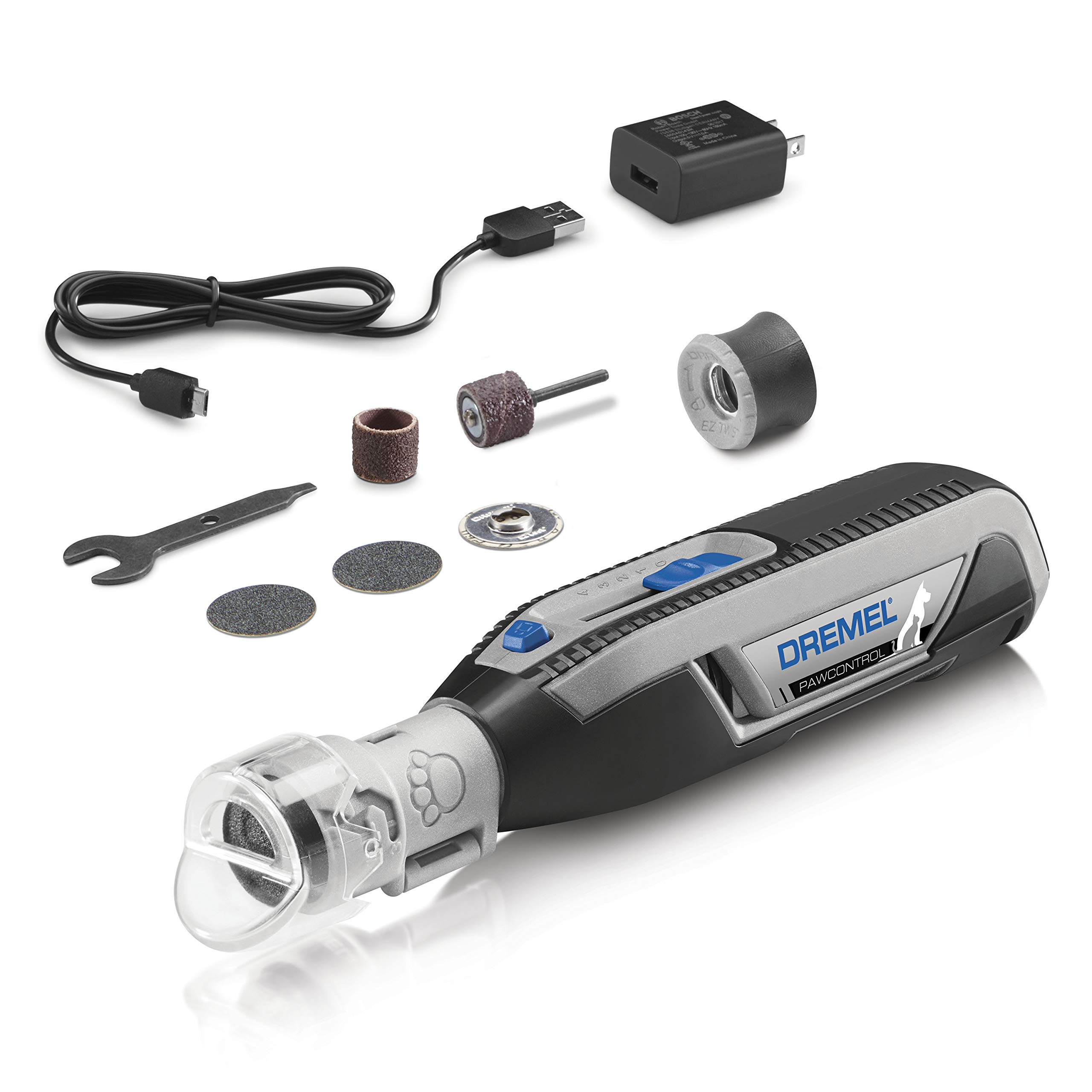 Dremel Pawcontrol 7760-PGK Cordless Pet Nail Grinder - Nail Trimmer for Dogs, Cats, Small Animals Claw Grooming Kit by Dremel
