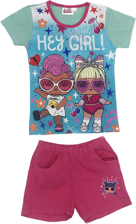 SUN CITY Completo Bambina T-Shirt con Pantaloncini LOL Surprise Estate 2020