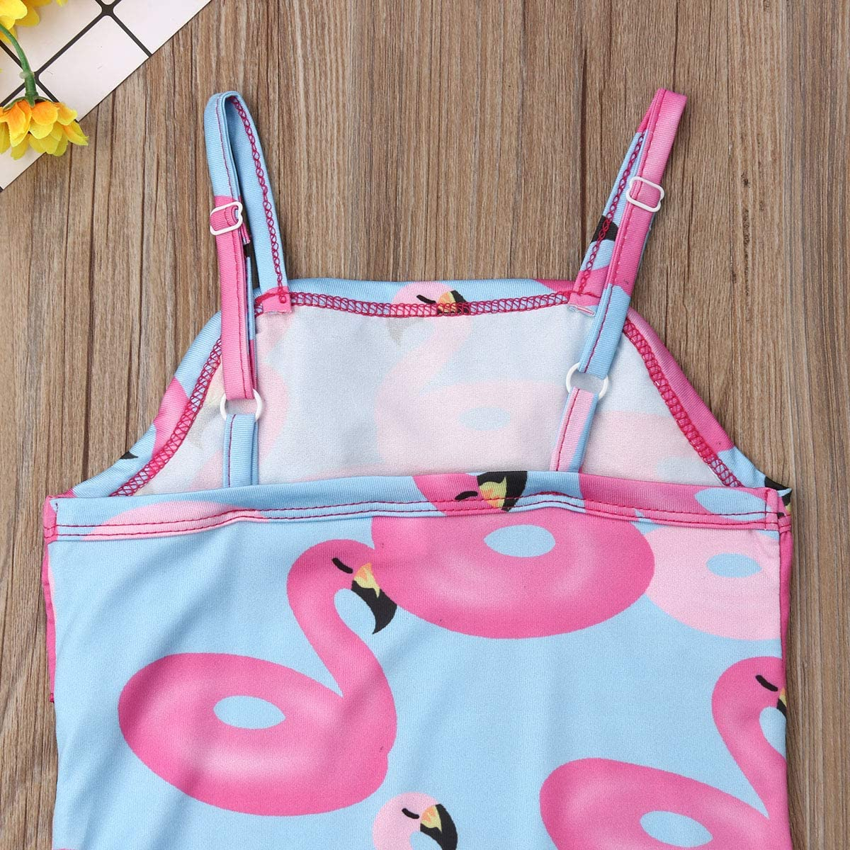 hirigin Toddler Baby Girl Strppy Ruffle Flounce Print One Piece Monokini Swimsuit