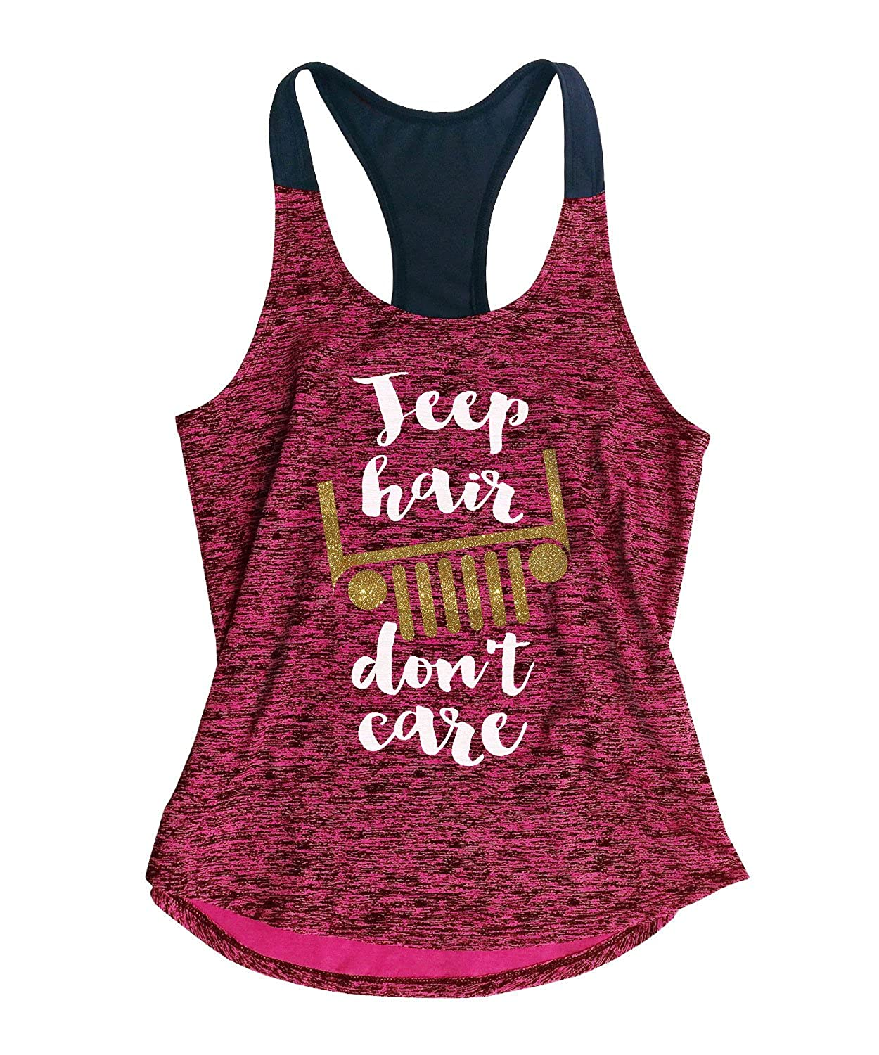 TeeMixed Women's Workout Gym Tank Top Jeep Hair Don't Care