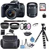 Canon EOS 77D DSLR Camera with EF-S 18-55mm f/3.5-5.6 III Lens + Accessory Bundle +TopKnotch Deals Cloth (International…