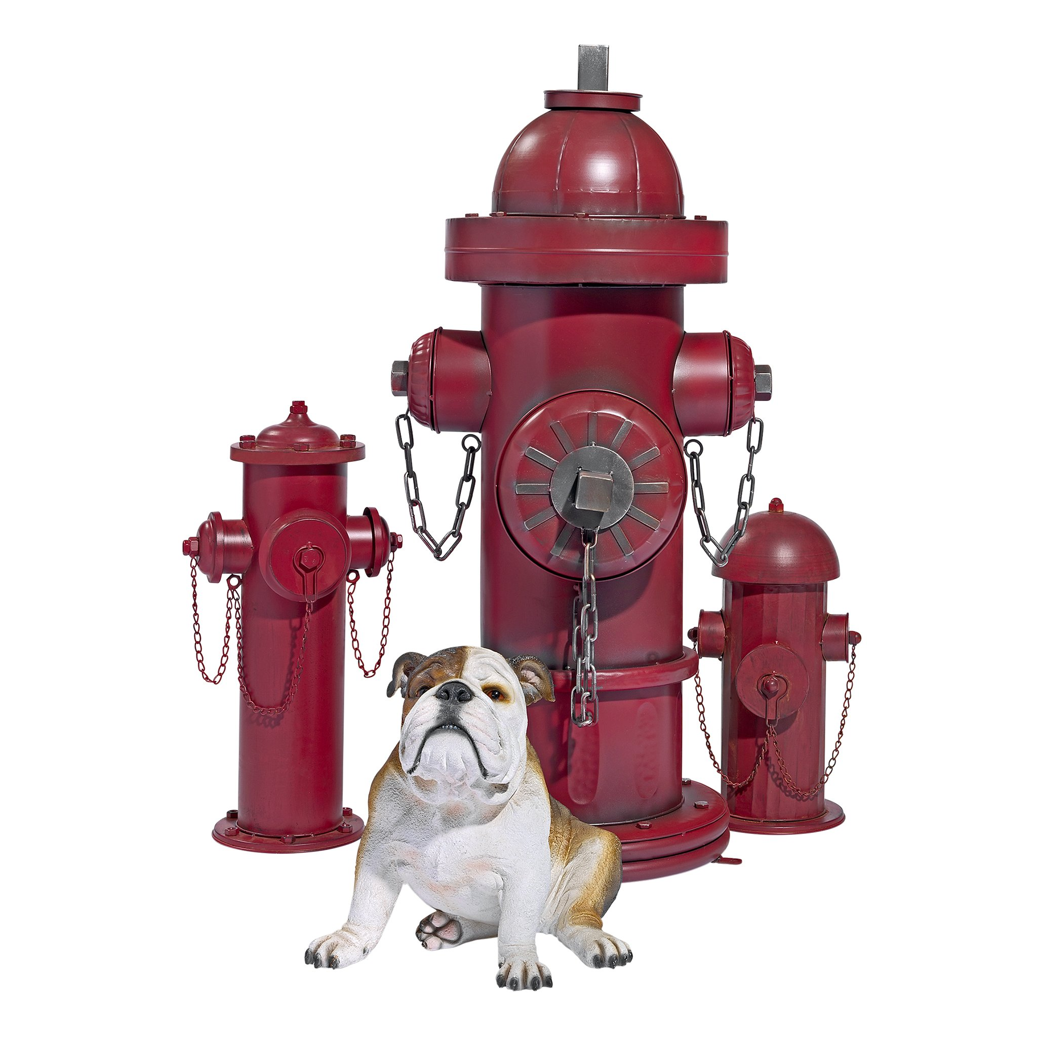 Design Toscano Fire Hydrant Statue Puppy Pee Post and Pet Storage Container, Medium 18 Inch, Metalware, Full Color by Design Toscano (Image #6)