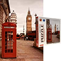 The Jigsaw Puzzlery London Telephone Booth Jigsaw Puzzle - 1000 Piece Jigsaw Puzzles for Adults