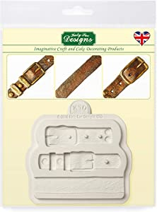 Katy Sue Designs Belt Straps Silicone Mold for Cake Decorating, Cupcakes, Sugarcraft, Candies, Clay, Crafts and Card Making, Food Safe