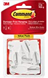 Command Medium Wire Toggle Hook Value Pack, White, 6-Hooks