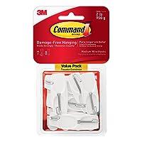 Command Wire Toggle Hook Value Pack, Medium, White, 7-Hooks (17065-7ES)
