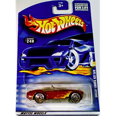 Hot Wheels 2001 Shelby Cobra 427 S/C RED #240 Convertible 1:64 Scale: Toys & Games