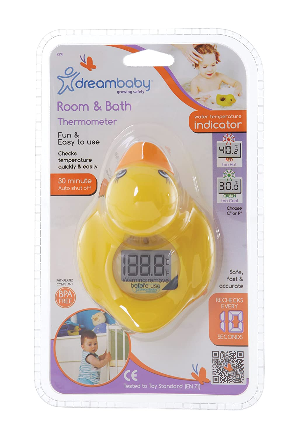 Dreambaby L321 Room & Bath Thermometer Duck F321