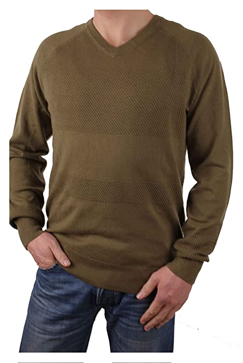 Sudaderas para hombres Timberland Jones Brook texture V-Cuello (Medium, Caqui): Amazon.es: Ropa y accesorios