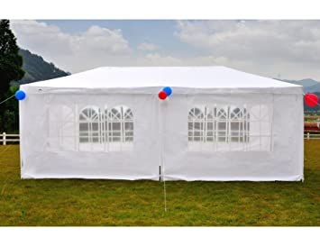 GOJOOASIS Canopy Tent Wedding Party Tent Outdoor Gazebo Heavy Duty White (10u0027 x 20 & Amazon.com : GOJOOASIS Canopy Tent Wedding Party Tent Outdoor ...