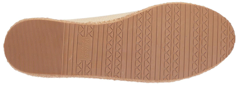 KAANAS Women's Arizona Leather Espadrille Platform Lace-up Sneaker B076FKNRHX 11 B(M) US|Ivory