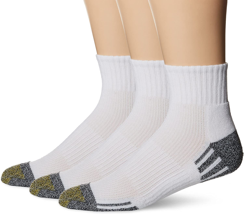 Gold Toe Outlast Quarter Socks, 3-Pack