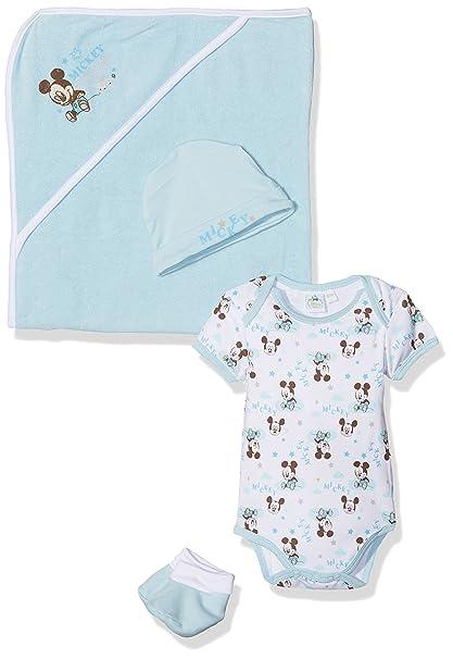 Disney AQE0315, Body Unisex bebé, Azul (Light Blue 009), Prematuro (