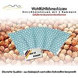Cuscino con noccioli di ciliegia all'interno / cuscino da rilassamento per il trattamento termico – cuscino termico riscaldabile nel microonde // (azuro)