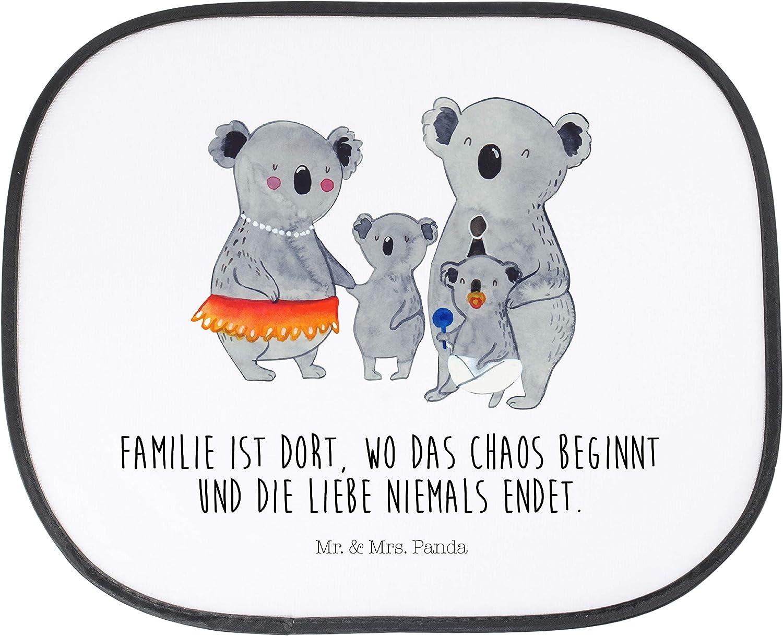 R/ücksitz Mr /& Mrs Auto Sonnenschutz Koala Familie mit Spruch Panda Fenster Farbe Wei/ß