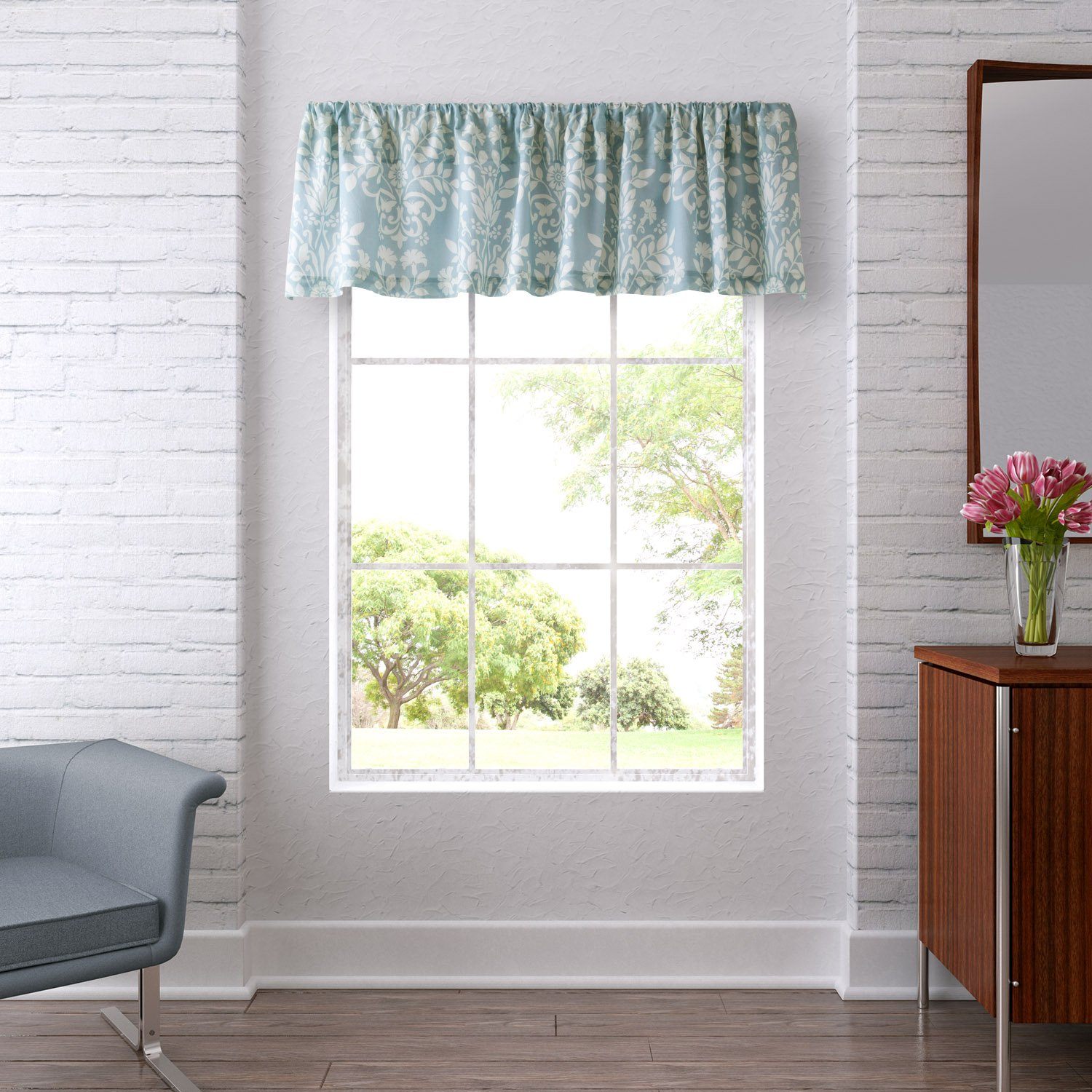 Amazon.com: Laura Ashley Rowland Breeze Valance: Home & Kitchen