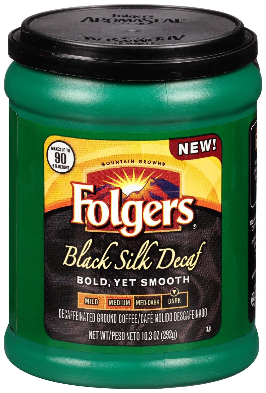 amazon com folgers decaf black silk dark roast ground coffee amazon com folgers decaf black silk dark roast ground coffee 20 6 ounce grocery gourmet food