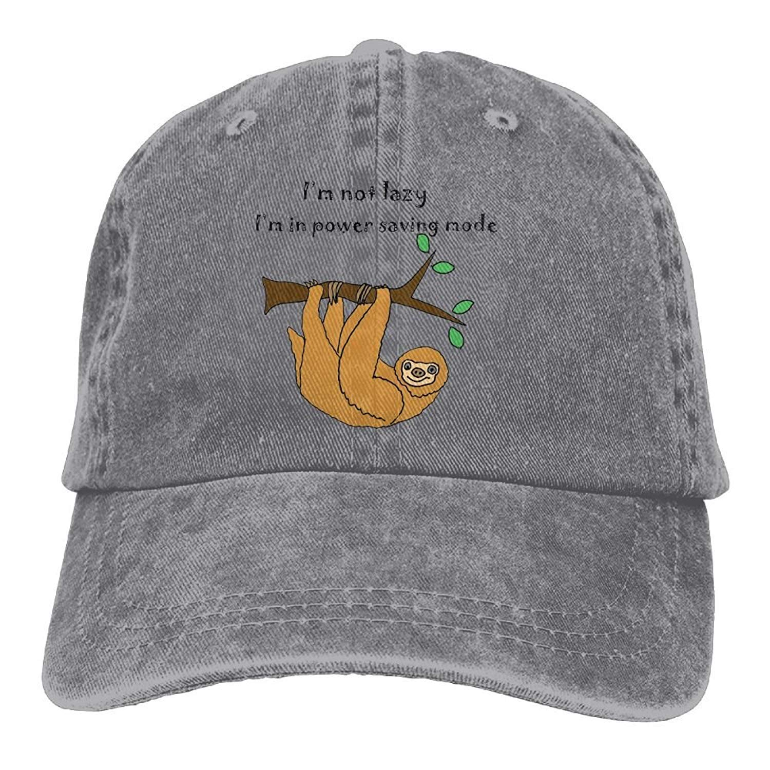 JTRVW Cowboy Hats Lazy Sloth Unisex Adjustable Baseball Caps Denim Hats Cowboy Sport Outdoor