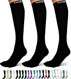 SB SOX 3-Pair Compression Socks (15-20mmHg) for Men & Women