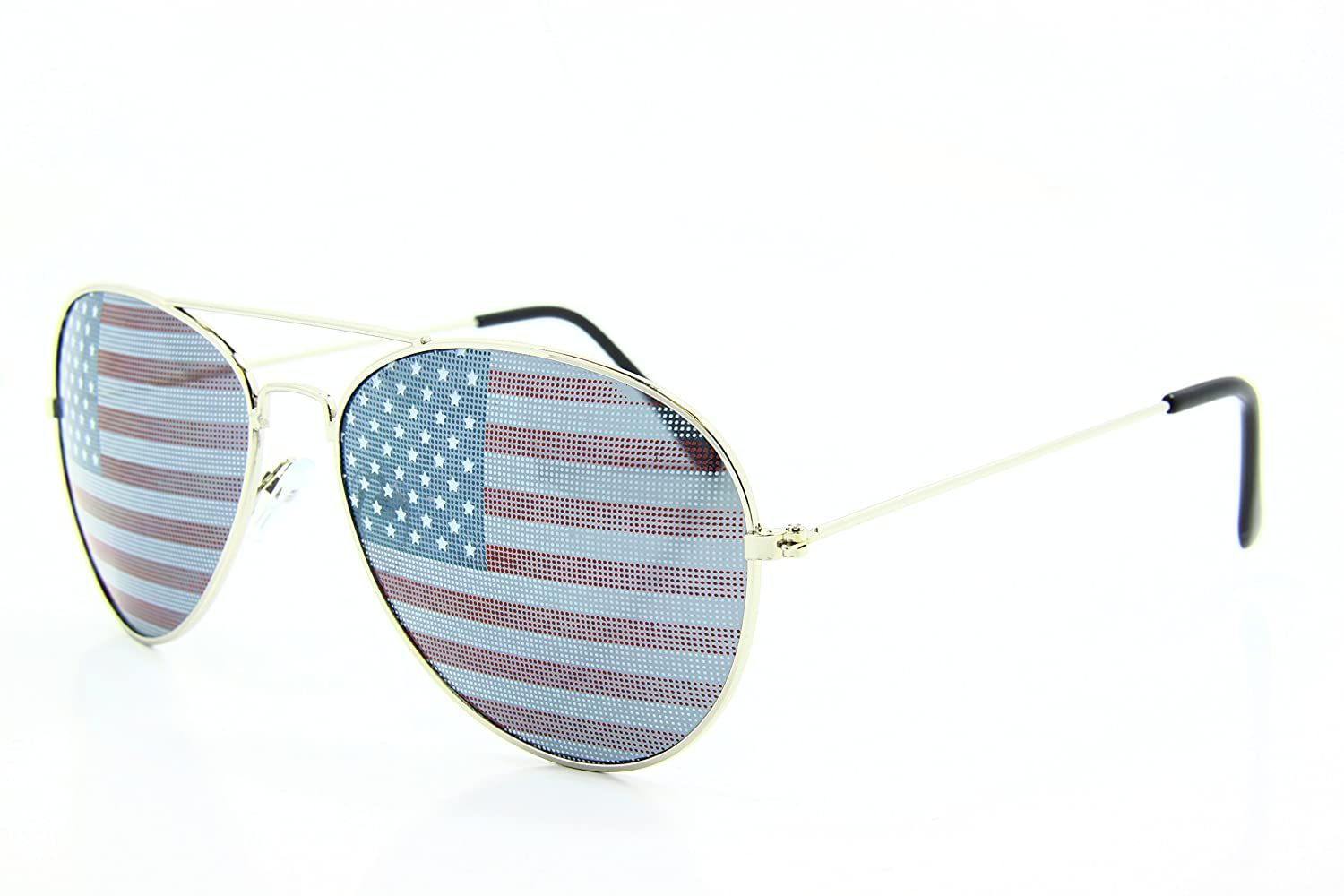 5Zero1 Retro Classic American Patriot Flag USA Independent Celebration Wayfarer Aviaotr Sunglasses