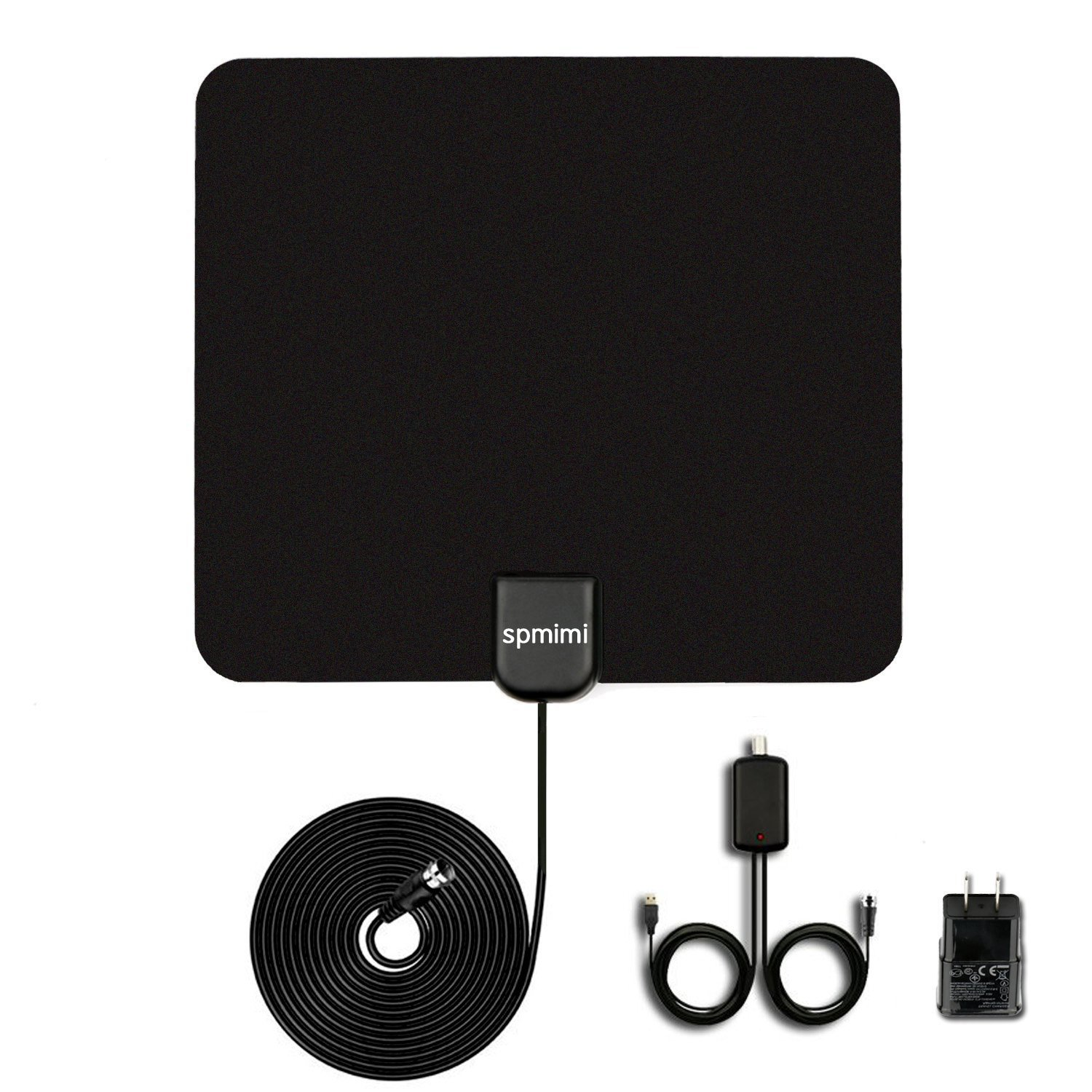 HDTV Indoor Antenna for High Reception Indoor Antenna 50 Miles Range with Detachable Amplifier Digital TV 10ft High Performance Coax Cable