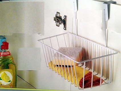 Blanco de cocina para puerta de armario de almacenamiento cesta ...