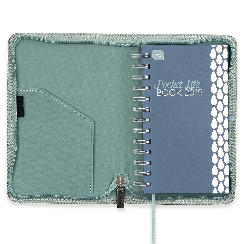 Boxclever Press 2019 Pocket Life Book. Agenda pequeña y delgada con funda de piel sintética ideal para personas con vidas atareadas. Semana por ...